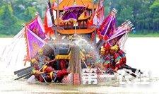 百年罗店龙船重现上海 传承端午民俗