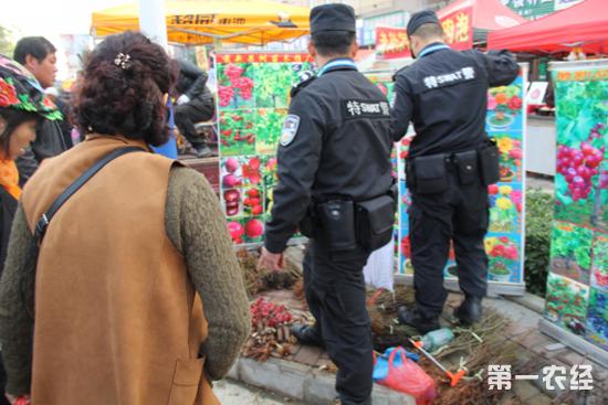 """农高会上商家""""浑水摸鱼"""" 执法大队销毁问题花卉1200余株"""