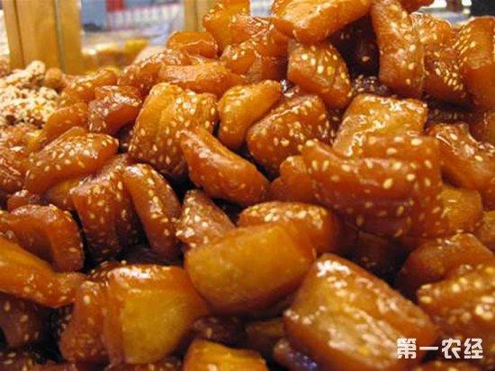 江苏徐州地区特色传统风味小吃:蜜三刀