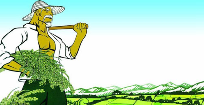 古代人农民矢量图