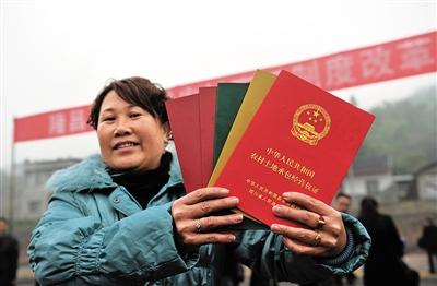 """安徽:权证使土地变成""""活资产"""""""