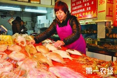 山东青岛高档海产品春节价格不涨反降