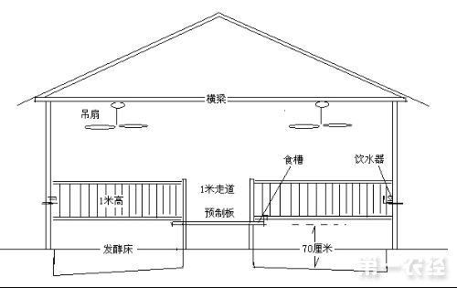 小型养猪场的猪舍设计图