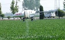 河南孟州首次启用植保无人飞机进行作业