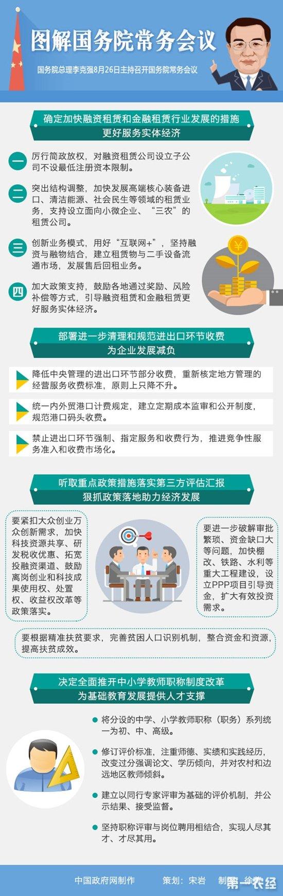 回顾8月26日国务院常务会议  李克强:加快融资和金融租赁