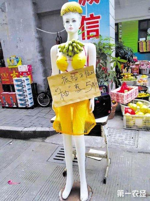 """浙江台州街头水果店""""柚""""惑十足"""