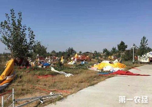 内蒙古:龙卷风袭击通辽市库伦旗 致200亩农田遭损毁