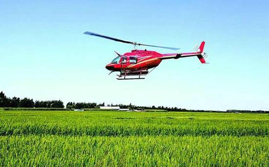 被人们称为铁蜻蜓的直升飞机却悄悄地飞来,帮助开展航化作业,大大.