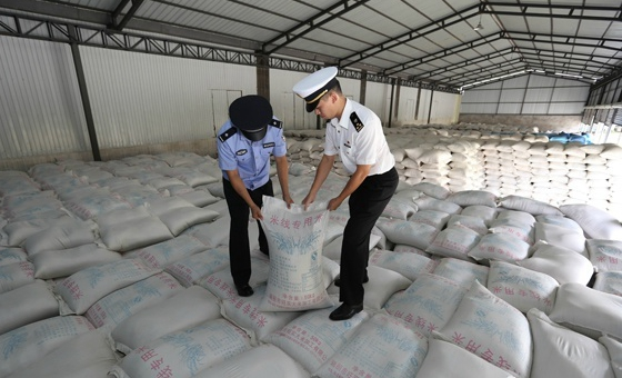 南宁:查获走私大米2.9万吨 总案值超亿元