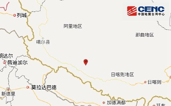 西藏日喀则市仲巴县发生4.7级地震 震源深度9千米