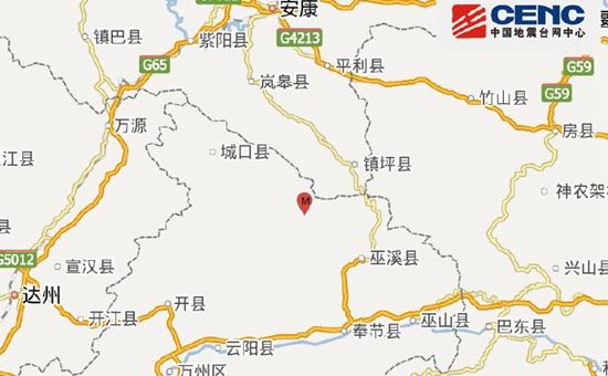 重庆巫溪县发生3.0级地震 震源深度5千米