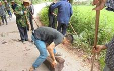 一四九团三党支部职工已完成石莫公路公路打扫工作