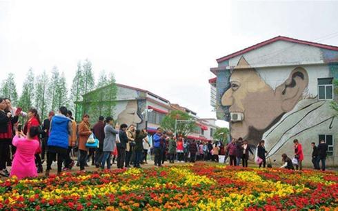 湖南罗文:花海涂鸦形成现代旅游景区 让村民每年户均增收8000元