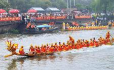 海南澄迈:龙舟开赛吸引28支队伍激烈角逐
