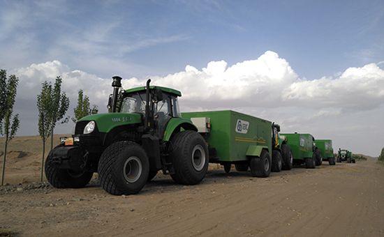 甘肃:沙漠化治理已迈入机械化时代