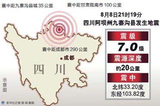08月08日21时19分四川九寨沟7.0级地震
