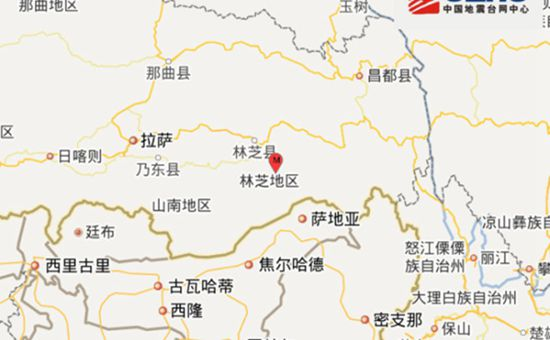 <b>西藏墨脱县今日凌晨发生3.1级地震 震源深度6千米</b>