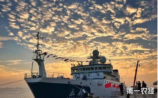"""国内首艘远洋渔业资源调查船""""淞航""""号开启首轮科考之旅"""
