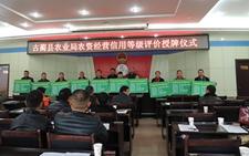 古蔺县举办农资经营等级评价授牌仪式