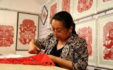 甘肃平凉:剪纸艺术成农村致富好项目