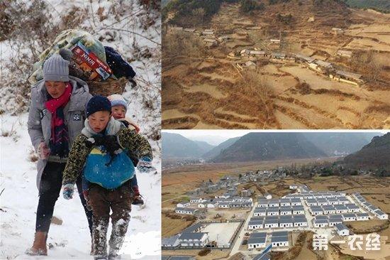 四川凉山:男孩背弟弟雪中搬家 崎岖山路一走50分钟