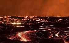 美国夏威夷基拉韦厄火山持续喷发 岩浆所过之处寸草不生
