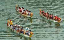 福建福州:端午佳节举办赛龙舟活动