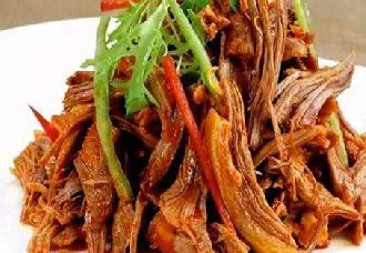 <b>吉林松原市特色美食——凉拌狗肉丝</b>