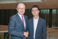 世界银行行长金墉与京东金融CEO陈生强举行会谈