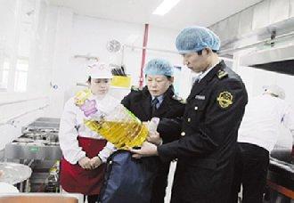<b>山东章丘为确保人民群众饮食安全 进行食用油质量安全监管整治行动</b>