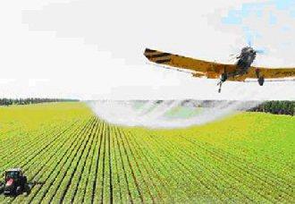 上万亩农田之上,无人机有序飞行喷洒化肥