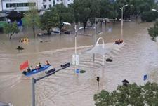 """浙江临海古城变""""水城"""" 80年一遇洪水淹没全市"""
