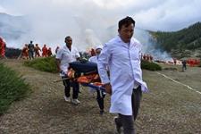 新疆富蕴森林:多单位联合灭火演练 做好森林消防安全工作